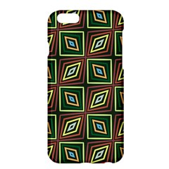 Rhombus Flowers Pattern	apple Iphone 6 Plus Hardshell Case by LalyLauraFLM