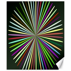 Colorful Rays Canvas 8  X 10  by LalyLauraFLM