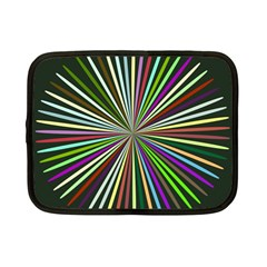 Colorful Rays Netbook Case (small) by LalyLauraFLM
