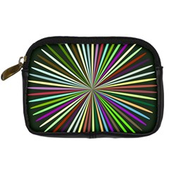 Colorful Rays Digital Camera Leather Case by LalyLauraFLM