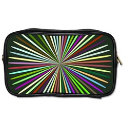 Colorful Rays Toiletries Bag (two Sides)
