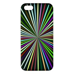 Colorful Rays Iphone 5s Premium Hardshell Case by LalyLauraFLM
