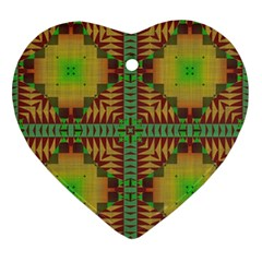 Tribal Shapes Pattern Ornament (heart) by LalyLauraFLM