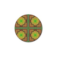 Tribal Shapes Pattern Golf Ball Marker by LalyLauraFLM