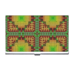 Tribal Shapes Pattern Business Card Holder by LalyLauraFLM