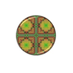 Tribal Shapes Pattern Hat Clip Ball Marker by LalyLauraFLM