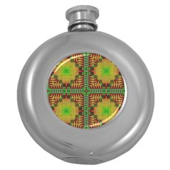 Tribal Shapes Pattern Hip Flask (5 Oz) by LalyLauraFLM
