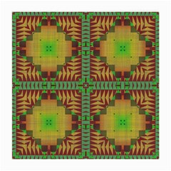 Tribal Shapes Pattern Medium Glasses Cloth by LalyLauraFLM