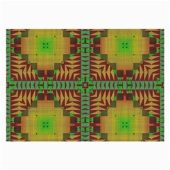 Tribal Shapes Pattern Large Glasses Cloth (2 Sides) by LalyLauraFLM