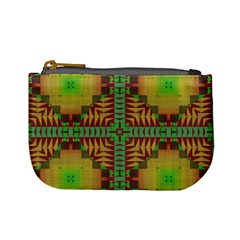 Tribal Shapes Pattern Mini Coin Purse by LalyLauraFLM