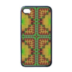 Tribal Shapes Pattern Apple Iphone 4 Case (black) by LalyLauraFLM