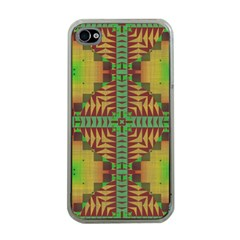 Tribal Shapes Pattern Apple Iphone 4 Case (clear) by LalyLauraFLM
