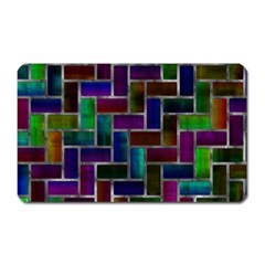 Colorful Rectangles Pattern Magnet (rectangular) by LalyLauraFLM