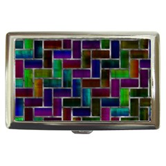 Colorful Rectangles Pattern Cigarette Money Case by LalyLauraFLM