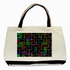 Colorful Rectangles Pattern Basic Tote Bag (two Sides) by LalyLauraFLM