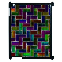 Colorful Rectangles Pattern Apple Ipad 2 Case (black) by LalyLauraFLM