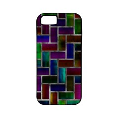 Colorful Rectangles Pattern Apple Iphone 5 Classic Hardshell Case (pc+silicone) by LalyLauraFLM