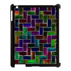 Colorful Rectangles Pattern Apple Ipad 3/4 Case (black) by LalyLauraFLM