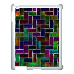 Colorful Rectangles Pattern Apple Ipad 3/4 Case (white) by LalyLauraFLM