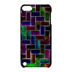 Colorful Rectangles Pattern Apple Ipod Touch 5 Hardshell Case With Stand by LalyLauraFLM