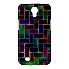 Colorful Rectangles Pattern Samsung Galaxy Mega 6 3  I9200 Hardshell Case by LalyLauraFLM