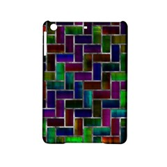 Colorful Rectangles Pattern Apple Ipad Mini 2 Hardshell Case by LalyLauraFLM