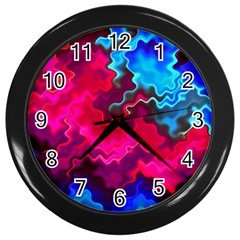 Psychedelic Storm Wall Clocks (black) by KirstenStar
