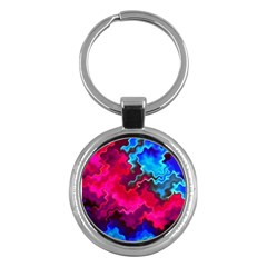Psychedelic Storm Key Chains (round)  by KirstenStar