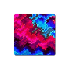 Psychedelic Storm Square Magnet by KirstenStar