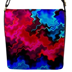 Psychedelic Storm Flap Messenger Bag (s) by KirstenStar