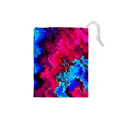 Psychedelic Storm Drawstring Pouches (small)
