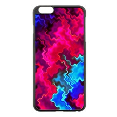Psychedelic Storm Apple Iphone 6 Plus Black Enamel Case by KirstenStar