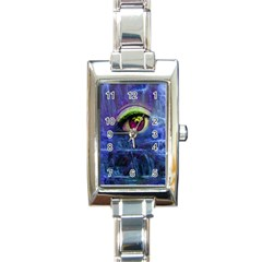 Waterfall Tears Rectangle Italian Charm Watches