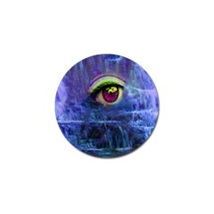 Waterfall Tears Golf Ball Marker by icarusismartdesigns
