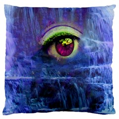 Waterfall Tears Large Cushion Cases (one Side)  by icarusismartdesigns