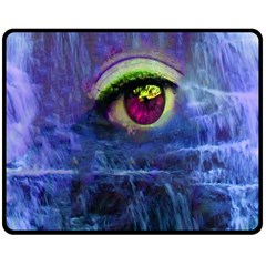 Waterfall Tears Double Sided Fleece Blanket (medium)  by icarusismartdesigns