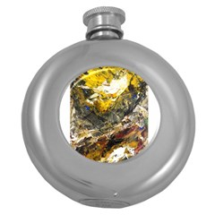 Surreal Round Hip Flask (5 Oz) by timelessartoncanvas
