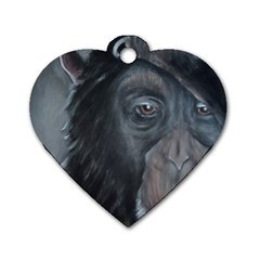 Humans Dog Tag Heart (two Sides) by timelessartoncanvas