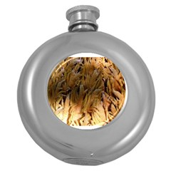 Sago Palm Round Hip Flask (5 Oz) by timelessartoncanvas