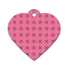 Cute Pretty Elegant Pattern Dog Tag Heart (one Side)