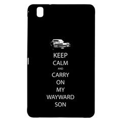 Keep Calm And Carry On My Wayward Son Samsung Galaxy Tab Pro 8 4 Hardshell Case