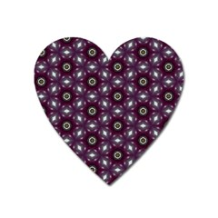Cute Pretty Elegant Pattern Heart Magnet
