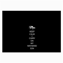 Keep Calm And Carry On My Wayward Son Large Glasses Cloth (2 Side) by TheFandomWard