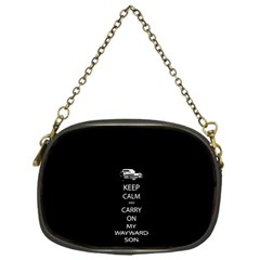 Keep Calm And Carry On My Wayward Son Chain Purses (one Side)