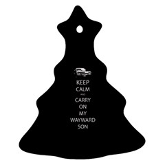 Keep Calm And Carry On My Wayward Son Christmas Tree Ornament (2 Sides) by TheFandomWard