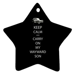 Carry On Centered Star Ornament (two Sides) by TheFandomWard