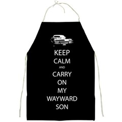 Keep Calm And Carry On My Wayward Son Apron