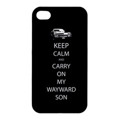 Keep Calm And Carry On My Wayward Son Apple Iphone 4/4s Premium Hardshell Case by TheFandomWard
