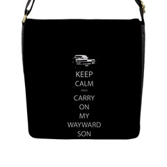 Keep Calm And Carry On My Wayward Sonflap Closure Messenger Bag (l) by TheFandomWard