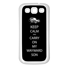 Keep Calm And Carry On My Wayward Son Samsung Galaxy S3 Back Case (white) by TheFandomWard